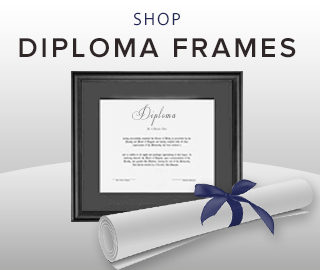 Picture of diploma frame and rolled diploma. Click to shop diploma frames.